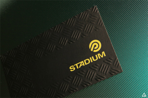 Stadium Sporting Good's Business Card