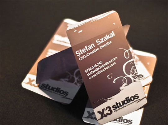 Cool Business Card for X3 Studios