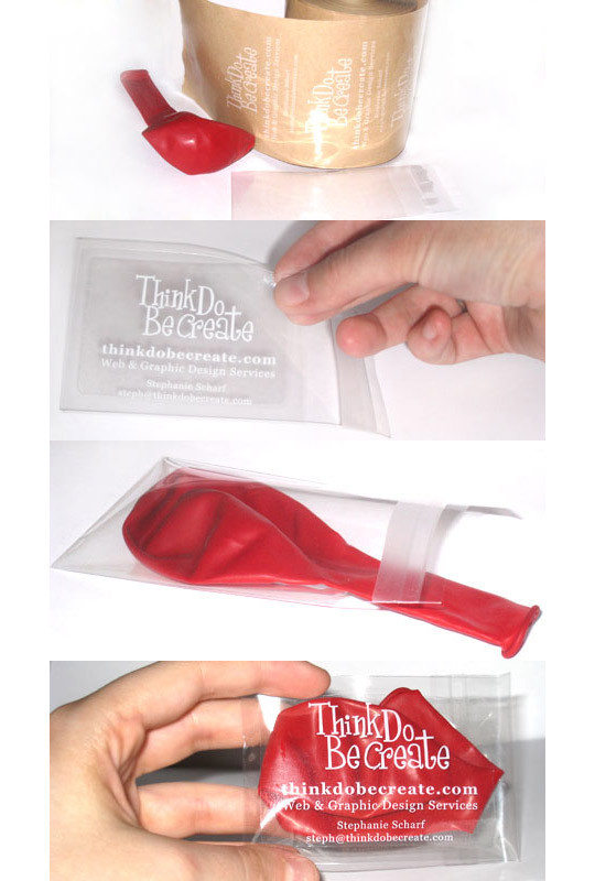 Think Do Be Create's Balloon Business Card