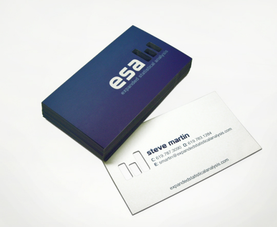 Expanded Statistical Analysis Business Card