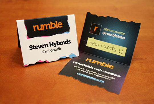 Rumble Folding Business Card