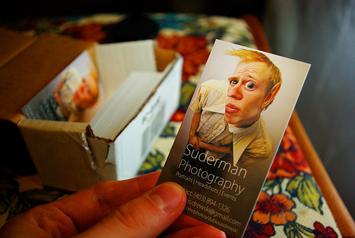 Suderman Photography's Business Card