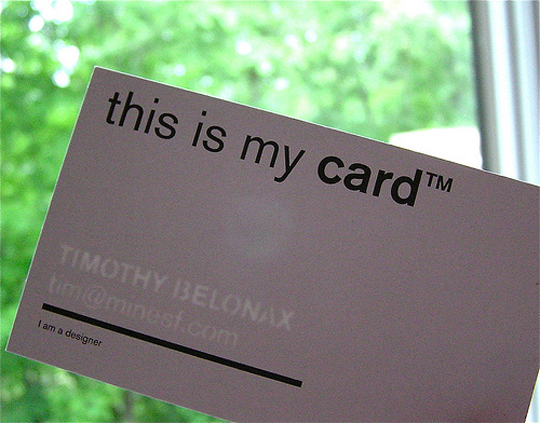 Timothy Belonax's Cool Business Card