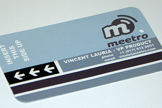 Subway Ticket–er, Meetro Business Card