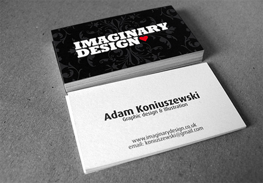 Imaginary Design Textured Business Card