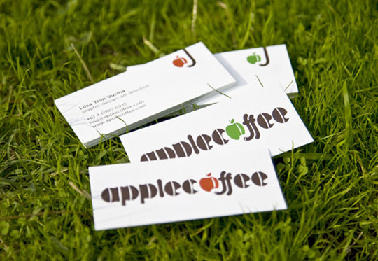 Apple Coffee's Simple Business Card