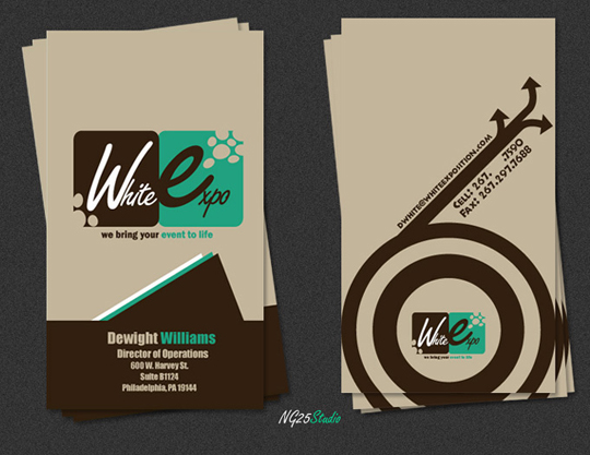 White Expo's Advertising Business Card