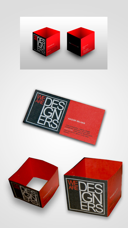 We Are Designers Creative Business Card