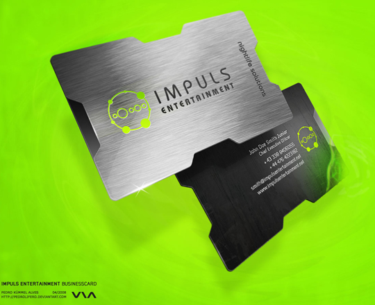Impuls Entertainment's Metal Business Card