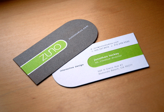 Zuno's Minimalist Business Card