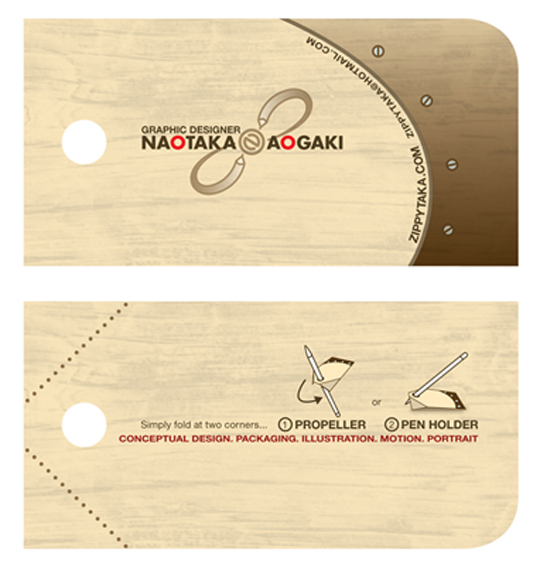 Post image for Naotaka Aogaki's Creative Business Card