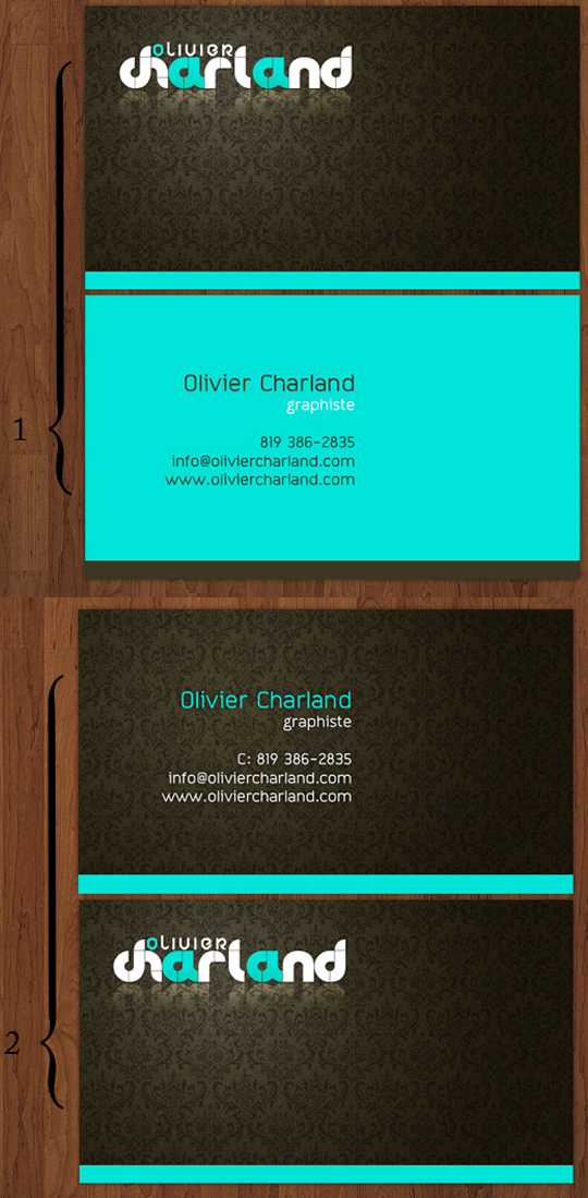 Olivier Charland's Graphic Design Business Card