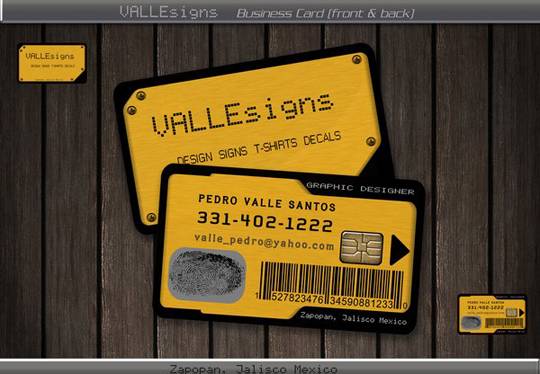 Post image for Valle Signs Unique Business Card