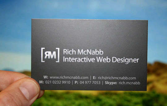 Rich McNabb's Simple Business Card