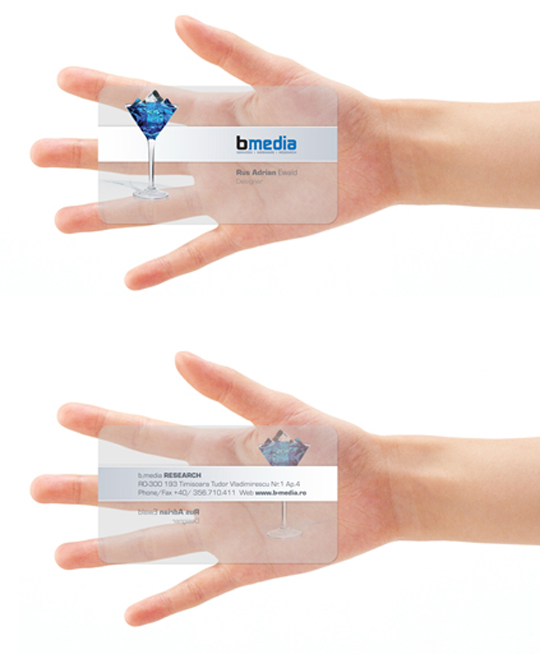 B Media's Plastic Business Card