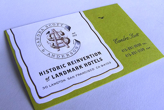 Historic Reinvention of Landmark Hotels' Business Card