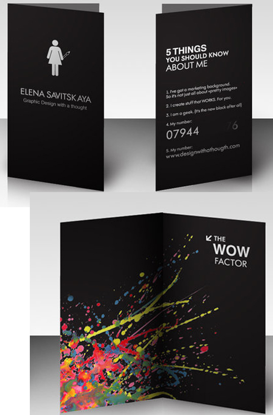 Elena Savistskaya's Graphic Designer Business Card