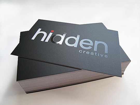 Hidden Creative's Textured Business Card