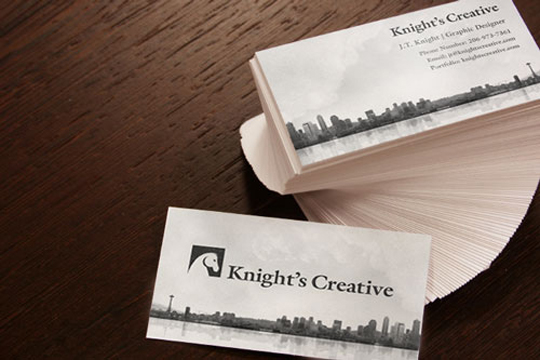 Post Image For Knights Creatives Simple Business Card