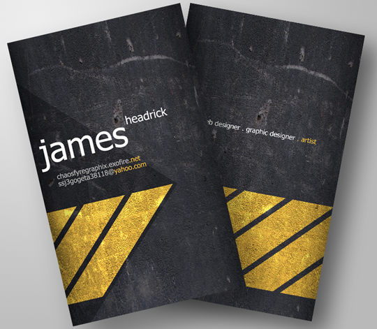 James Headrick's Graphic Design Business Card