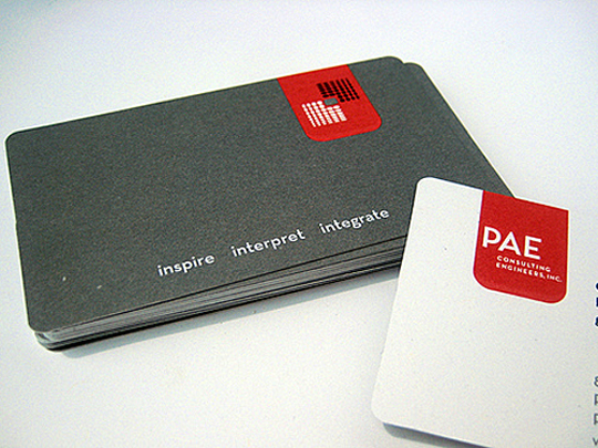 PAE Consulting Engineers' Simple Business Cards