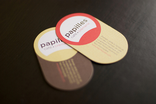 Papilles Cafe Cremerie's Unique Business Card