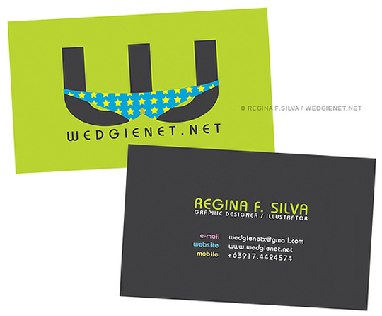 Wedgienet.net's Funny Business Card