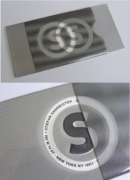Stephen Sagmeister's Plastic Business Card