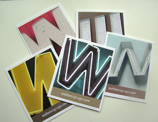 Walton Signage's Cool Business card