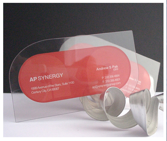 AP Synergy's Plastic Business Card