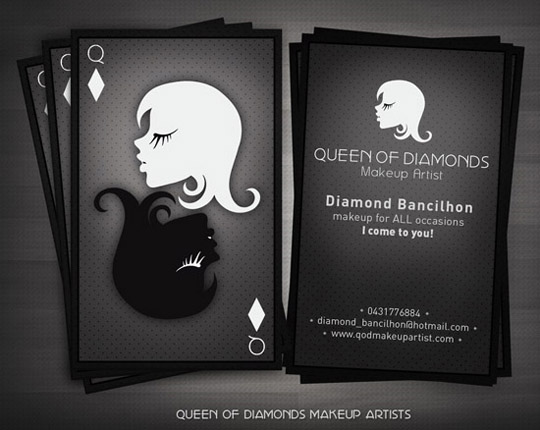 Post image for Queen of Diamonds Unique Business Card