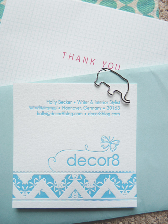 Decor8's Textured Business Card