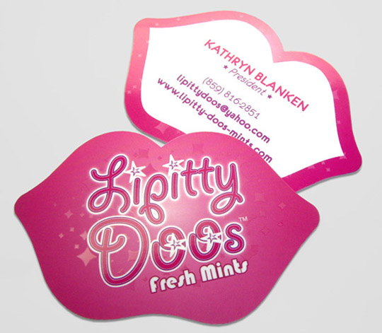 Lippity Doos' Unique Business Card