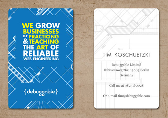 Post image for Debuggable Limited's Creative Business Card