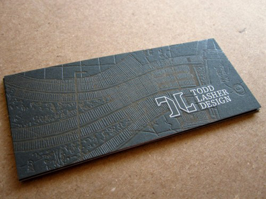 Todd Lasher Design's Textured Busines Card