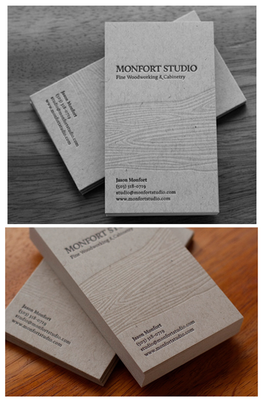 Monfort Studio's Textured Business Card