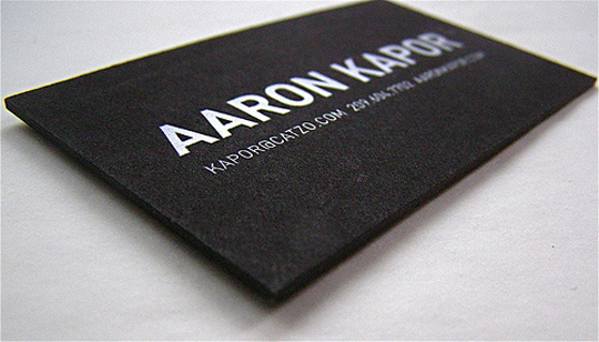 Aaron Kapor's Minimalist Business Card