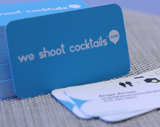 We Shoot Cocktails' Simple Business Card
