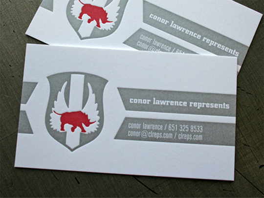 Conor Lawrence Represents Textured Business Card