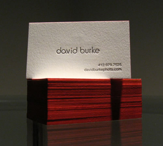 Textured Business Card for David Burke