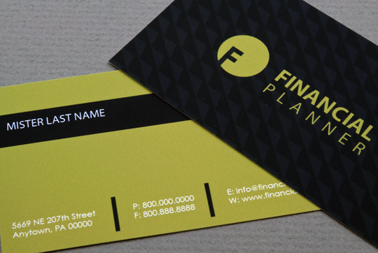 Financial Planner or Account Business Card Template by Jenna Ebanks