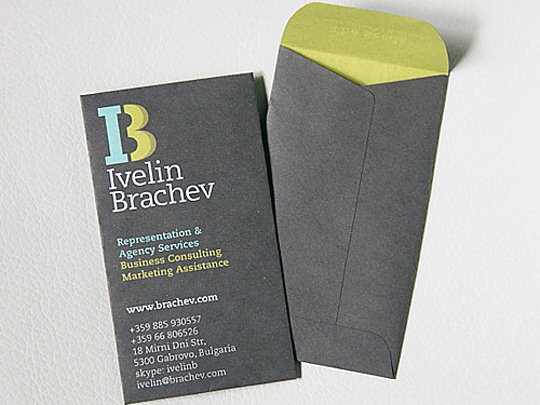 Ivelin Brachev Representation & Agency's Advertising Business Card