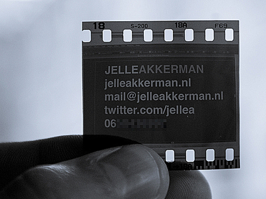 Jelle Akkerman's Photography Business Card