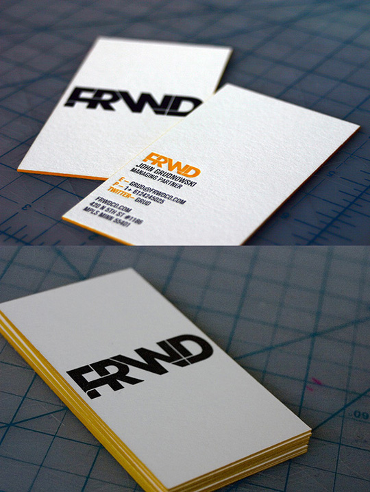FRWD's Advertising Business Card