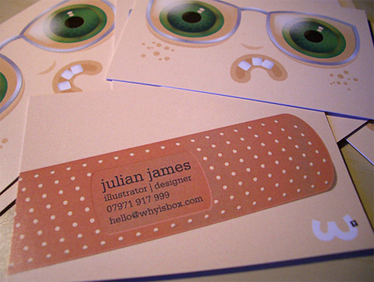 Julian James' Graphic Design Business Card