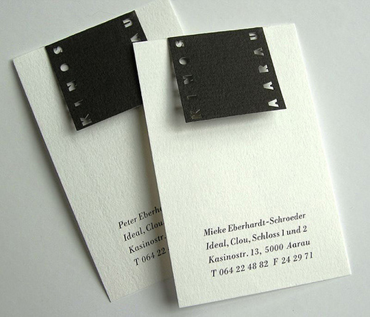 Kinos Aarau's Textured Business Card