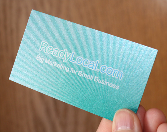 Textured Business Card – ReadyLocal.com