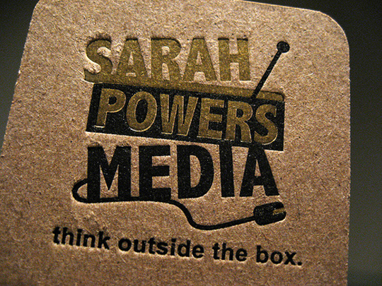 Sarah Powers Media's Textured Business Card
