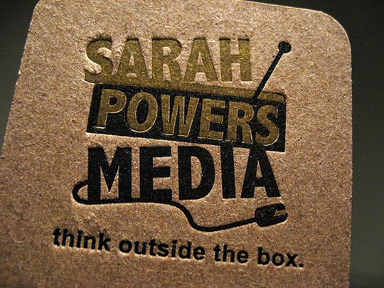Sarah Powers Media's Textured Business Card