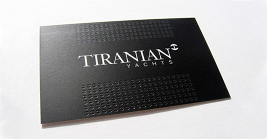 Tiranian Yacht's Minimalist Business Card